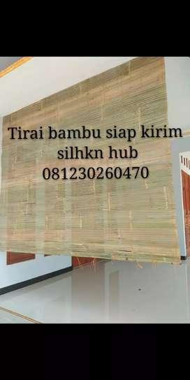 Tirai bambu fokus