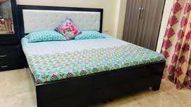 1 Double Bed(without mattress) & Dressing in brand new condion.