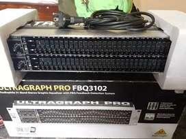 Behringer Ultragraph pro fbq 3102 equalizer speaker