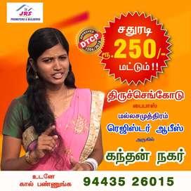 Low Budgte Plots Sales Near by Mallasamudram Register office