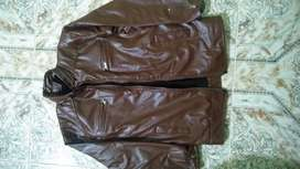 Leather jacket brown colour