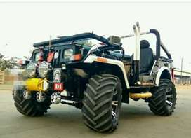 Black Open willys Jeep