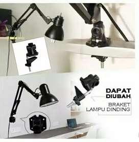 Lampu belajar/lampu arsitek bahan besi plus holder/jepitan