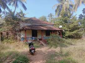 Siolim 1500sq Mtr plot with Portuguese house for sale