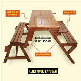 kursi magic jati, kursi makan magic jati