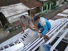 Kontruksi bajaringan, kanopy, renovasi rmh