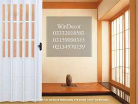 PVC Folding Shutter Door Ideal for Separation in Space with beauty