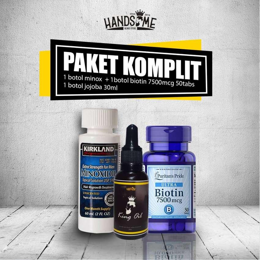 Minoxidil Kirkland Penumbuh Rambut Brewok Kumis | Biotin dan Peomix 0