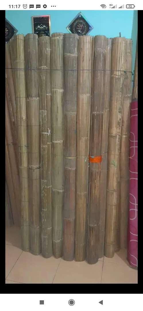 Tirai bambu, tirai rotan dan kayu miranti