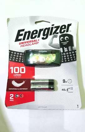 Senter kepala Headlamp energizer 100 lumen