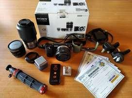 Kamera Mirrorless Sony + Lensa + Banyak Bonus