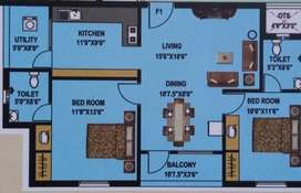 5years old 2BHK flat for sale at Sri Rangam