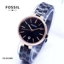 jam tangan fossil women blue black dark elegant 32mm