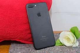 Iphone 7+ 128gb blackmatte garansi tam