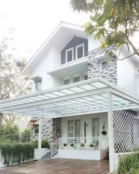 Canopy kaca,alderon,kontruksi baja, bajaringan,solarflat,solartuf dll