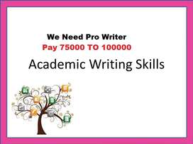 Need academic writer full time
