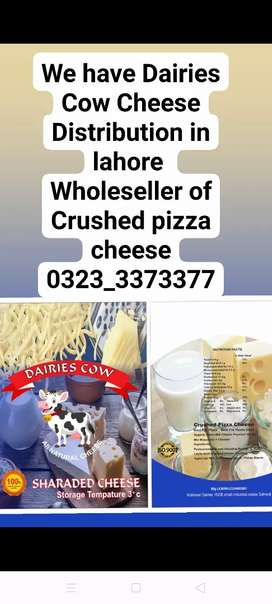 We have distribution of Daries cow cheese in lahore we r wholeseler