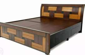 New wooden 5*6 storage double cot 8555 free delivery mattress 3500