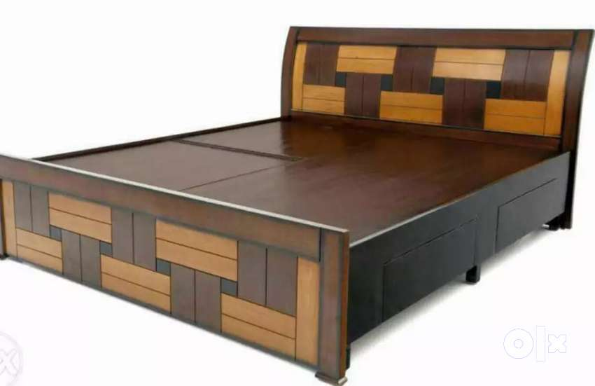New wooden 5*6 storage double cot 8555 free delivery mattress 3500 0