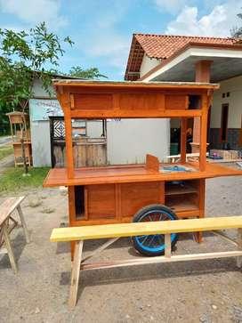 gerobak angkringan murah free ongkir cod 1209