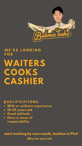 Dibutuhkan waiter cook cashier