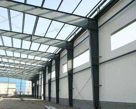 Prefabricated Warehouse, Industrial Shed, steel roof structure