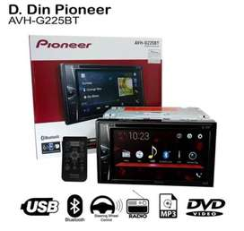 HU Doubledin Pioneer AVH G 225 BT (( Bluetooth ))