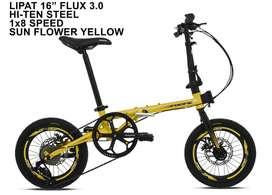 Sepeda Lipat 16 inch Merk Pacific Flux 3.0