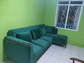Sofa  L Sambung , Model kekinian ,