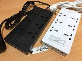 REMAX RU-S4 Colokan Listrik6 Power Electrical Multi Socket+5 USB Port