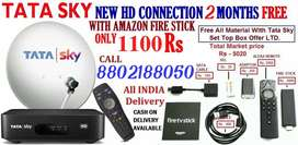 FIRE STICK WITH TATA SKY DTH HD CONNECTION