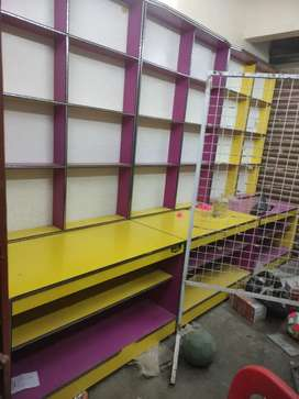 Shop furniture racks and boxes urgent sell