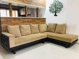 Premium Sofa set (L shape) 3+2 Seating With 6 cushions