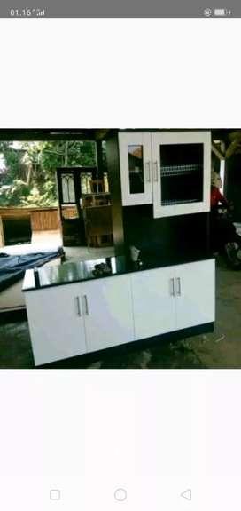 lemari piring hitam 160x40x180