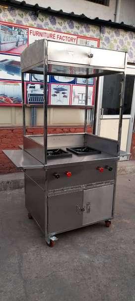 Brand New pure Steel 12 months warranty 2 burner Food Counter