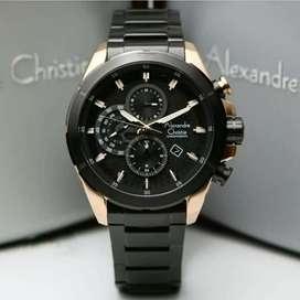 Alexandre Christie Ac6508 Rosegold Black, Jam Tangan Pria Original