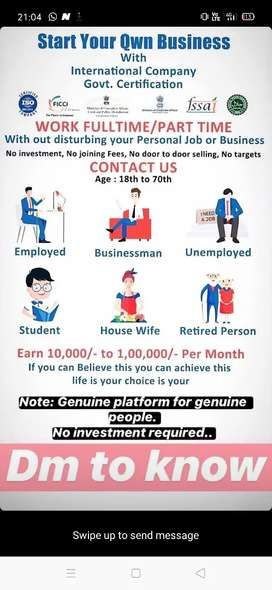 Bussiness opportunity without any investment