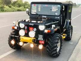 Black modified willyz jeep