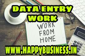 Earn money from home Data Entry Work