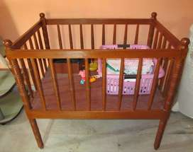 Kapur wood baby cot for sale.
