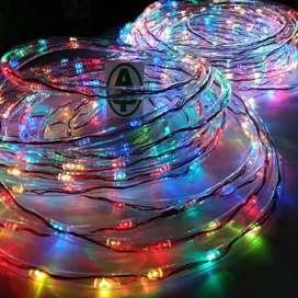 Lampu hias dalam selang3 warna kelapp kelipp