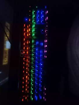 Mechanical rgb  keyboard and gaming mouse