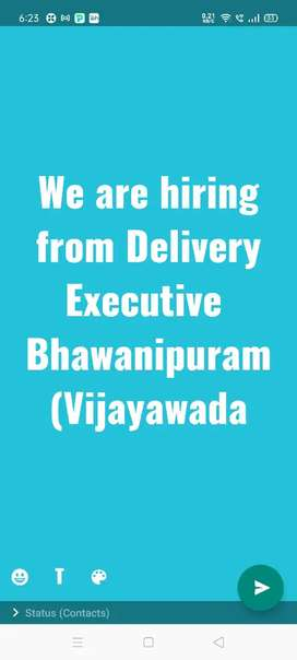 We are hiring from Delivery Executive