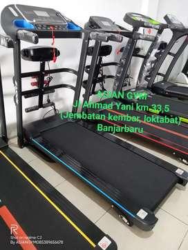 Ready Big Promo treadmill listrik multifungsi motor 2hp gratis rakit