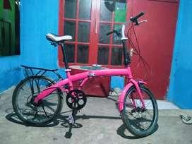 Sepeda lipat exotic 7 speed