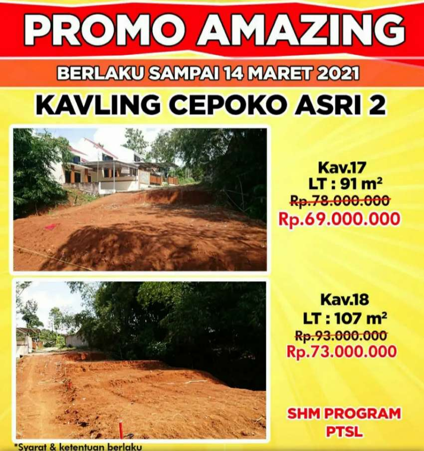 Tanah Dijual di Gunung Pati Semarang strategis cepoko asri