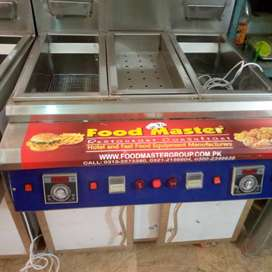 2 tank fryer with sizzling by food master