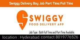 Join as swiggy delivery executives & get 5k bonus plus 2000 per week