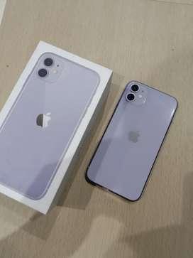 IPhone, IPhone 11 Purple 64GB Fullset !!!