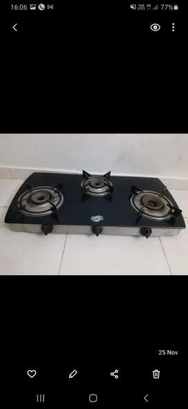 Automatic three burner gas top
